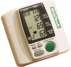 Wristech writsband blood pressure monitor, in set of one complete unit with accessories